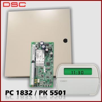 Kit DSC PC1832 cu sirena de interior - Pret | Preturi Kit DSC PC1832 cu sirena de interior