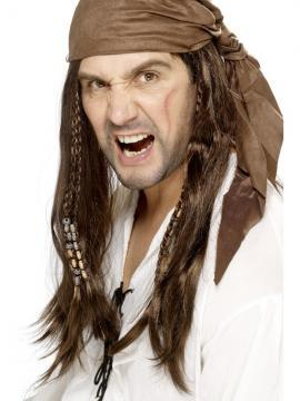 Peruca Pirat cu Bandana - Pret | Preturi Peruca Pirat cu Bandana