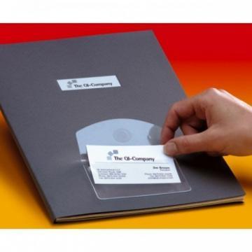 Buzunar autoadeziv pt carti de vizita, acces vertical, 95 x 60mm, 10/set, PROBECO - Pret | Preturi Buzunar autoadeziv pt carti de vizita, acces vertical, 95 x 60mm, 10/set, PROBECO
