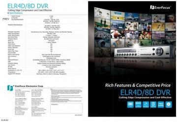 DVR Standalone EVERFOCUS ELR8F - Pret | Preturi DVR Standalone EVERFOCUS ELR8F