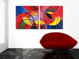 "Modern Art Acrylic - Frank Bergmann ""Abstract"" 120x60 cm - Pret 