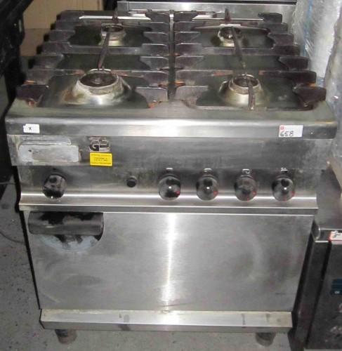Aragaz inox  gaz 4 focuri si cuptor second - Pret | Preturi Aragaz inox  gaz 4 focuri si cuptor second