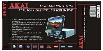 DVD Auto Akai AKDP 7000 - Pret | Preturi DVD Auto Akai AKDP 7000