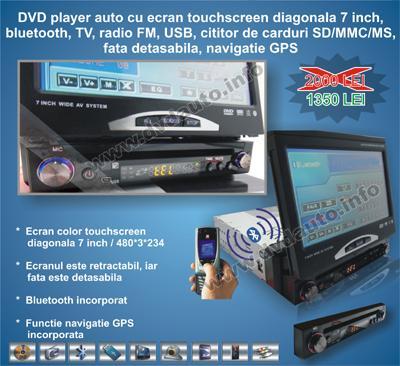 DVD AUTO cu GPS si Display LED 7