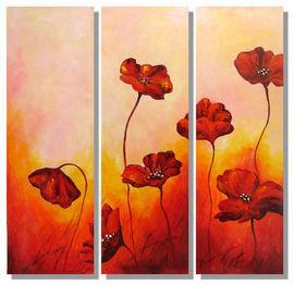 "Modern Art Acrylic - Frank Bergmann ""Flower"" Multi Panel - Pret | Preturi Modern Art Acrylic - Frank Bergmann ""Flower"" Multi Panel"