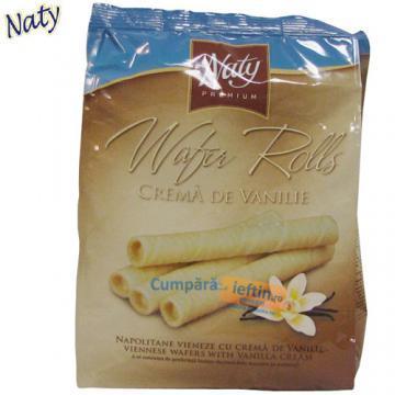 Napolitane vieneze cu vanilie Naty 200 gr - Pret | Preturi Napolitane vieneze cu vanilie Naty 200 gr