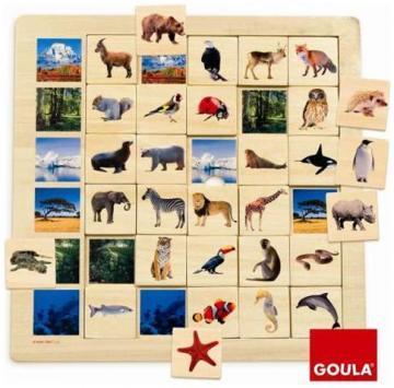 Puzzle din lemn - Unde traiesc animalele - Pret | Preturi Puzzle din lemn - Unde traiesc animalele