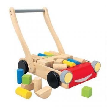 Plan Toys - Premergator cu Cuburi - Pret | Preturi Plan Toys - Premergator cu Cuburi