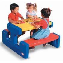 Masa picnic cu bancheta 4 copii Little Tikes 4795 - Pret | Preturi Masa picnic cu bancheta 4 copii Little Tikes 4795