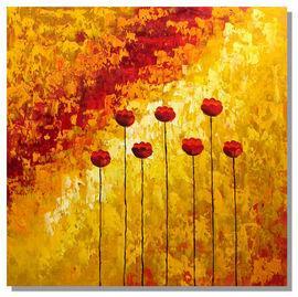 Modern Art Painting - Joseph Brice Flower Red Poppies 70x70 cm - Pret | Preturi Modern Art Painting - Joseph Brice Flower Red Poppies 70x70 cm