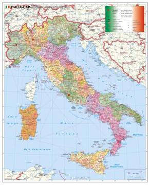 Tarile Lumii Stiefel Harta Coduri Postale Italia 100x130 Cm
