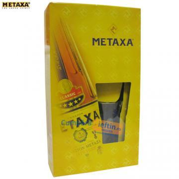 Pachet vin ars 38% Metaxa + pahar cutie 0.7 L - Pret | Preturi Pachet vin ars 38% Metaxa + pahar cutie 0.7 L