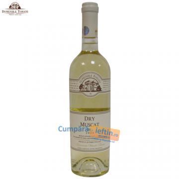 Vin sec Dry Muscat Domeniile Tohani 0.75 L - Pret | Preturi Vin sec Dry Muscat Domeniile Tohani 0.75 L