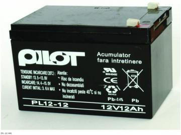 Acumulator Pilot PL-12 AH - Pret | Preturi Acumulator Pilot PL-12 AH