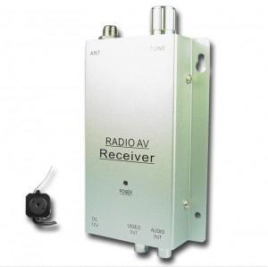 Gadget Camera de filmat miniaturala color wireless cu receiver A - Pret | Preturi Gadget Camera de filmat miniaturala color wireless cu receiver A