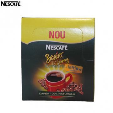 Cafea instant Nescafe Brasero Strong 36plicuri X 1 8g - Pret | Preturi Cafea instant Nescafe Brasero Strong 36plicuri X 1 8g