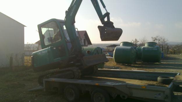 Vand miniexcavator 3,5t + platforma transport SUPER PRET - Pret | Preturi Vand miniexcavator 3,5t + platforma transport SUPER PRET
