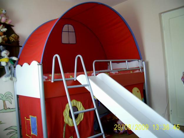 Vand pat etajat cu scari si topogan - Pret | Preturi Vand pat etajat cu scari si topogan