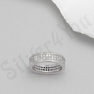 Silver4You.ro - Inel argint logodna zirconii albe aspect aur alb - Pret | Preturi Silver4You.ro - Inel argint logodna zirconii albe aspect aur alb