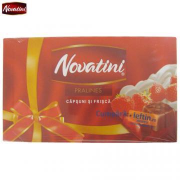 Praline de ciocolata cu capsuni si frisca Novatini 140 gr - Pret | Preturi Praline de ciocolata cu capsuni si frisca Novatini 140 gr