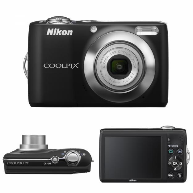 Vand Camera Foto Nikon L22 Black - Pret | Preturi Vand Camera Foto Nikon L22 Black