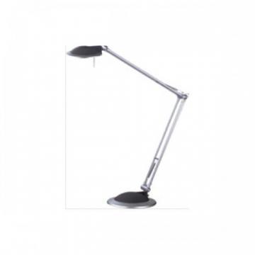 Lampa de birou cu brat articulat, 50W - halogen, ALCO - argintie/antracit - Pret | Preturi Lampa de birou cu brat articulat, 50W - halogen, ALCO - argintie/antracit