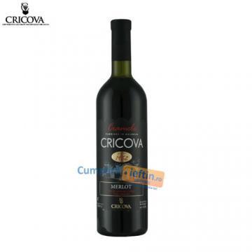 Vin demisec Merlot rosu 0 75 L  Cricova - Pret | Preturi Vin demisec Merlot rosu 0 75 L  Cricova