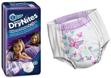 Chilot absorbant pentru noapte  Dry nites girl mar.2 - Pret | Preturi Chilot absorbant pentru noapte  Dry nites girl mar.2