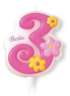 Lumanare tort Barbie cifra 3 - Pret | Preturi Lumanare tort Barbie cifra 3