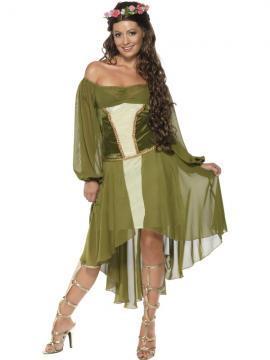 Costum petrecere femeie zana verde - Pret | Preturi Costum petrecere femeie zana verde