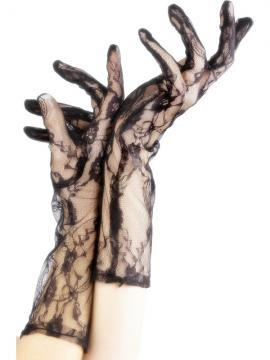 Manusi Petrecere dantela negre - Pret | Preturi Manusi Petrecere dantela negre