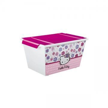 Cutie depozitare cu role Hello Kitty 45l - Pret   Preturi Cutie depozitare cu role Hello Kitty 45l