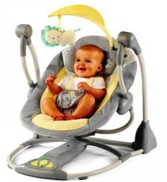 Bright Starts InGenuity Smart & Quiet Portable Swing - Pret | Preturi Bright Starts InGenuity Smart & Quiet Portable Swing