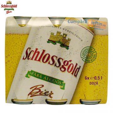 Bere fara alcool Schlossgold Pack 6 doze x 0.5 L - Pret | Preturi Bere fara alcool Schlossgold Pack 6 doze x 0.5 L