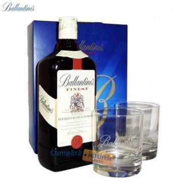 Whisky Ballantine`s 40% 0.7 L cu 2 pahare - Pret | Preturi Whisky Ballantine`s 40% 0.7 L cu 2 pahare
