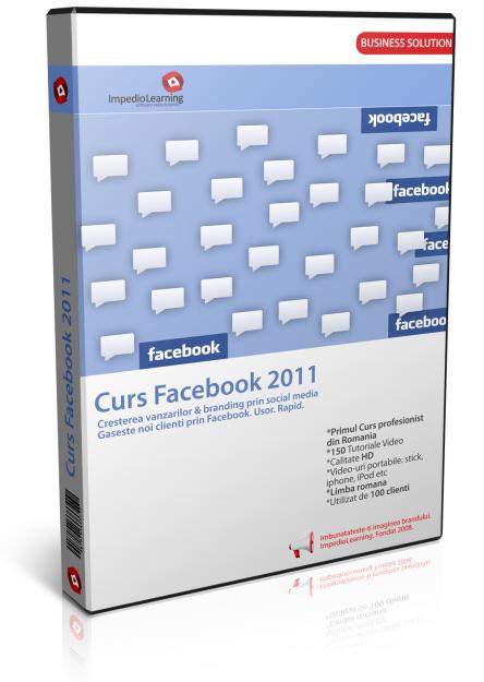 Primul CURS Facebook 2011: cresterea vanzarilor prin Facebook - Pret | Preturi Primul CURS Facebook 2011: cresterea vanzarilor prin Facebook