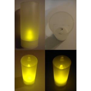 Lumanare electrica LED galben cu senzor suflat pornit / oprit! - Pret | Preturi Lumanare electrica LED galben cu senzor suflat pornit / oprit!