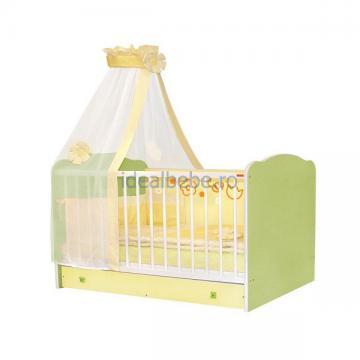 Bertoni - Pat lemn CLASSIC Green Yellow 60 x 120 + cearceaf de pat cadou - Pret | Preturi Bertoni - Pat lemn CLASSIC Green Yellow 60 x 120 + cearceaf de pat cadou