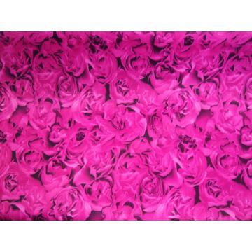 Tesatura Satin cu flori - Pret | Preturi Tesatura Satin cu flori