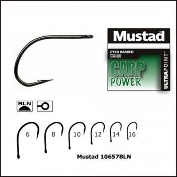 Carlig Mustad Carp Power 10657 NPBLN - nr.6 - Pret | Preturi Carlig Mustad Carp Power 10657 NPBLN - nr.6
