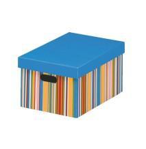 Cutie depozitare de dimensiuni medii cu dungi - Pret | Preturi Cutie depozitare de dimensiuni medii cu dungi