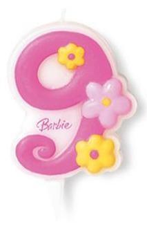 Lumanare tort Barbie cifra 9 - Pret | Preturi Lumanare tort Barbie cifra 9