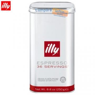 Cafea macinata portionata Illy Espresso 250 gr - Pret | Preturi Cafea macinata portionata Illy Espresso 250 gr