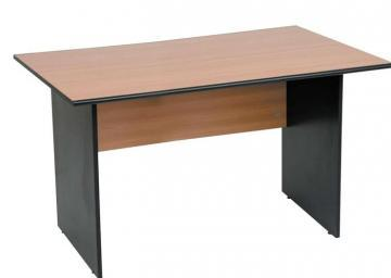 Birou standard, 140 x 80 x 75 cm, mahon cu negru mat - Pret | Preturi Birou standard, 140 x 80 x 75 cm, mahon cu negru mat
