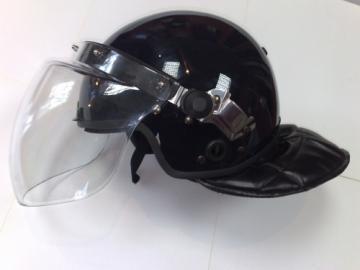 Casca protectie antivandal cu viziera - neagra - Pret | Preturi Casca protectie antivandal cu viziera - neagra