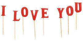 Lumanari I LOVE YOU - Pret | Preturi Lumanari I LOVE YOU