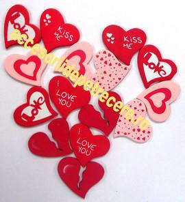 Confetti Decoratiuni inimioare lemn 15 buc - Pret | Preturi Confetti Decoratiuni inimioare lemn 15 buc