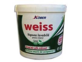 Vopsea lavabila Kober Weiss  4 L - Pret | Preturi Vopsea lavabila Kober Weiss  4 L