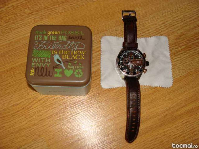 Vand ceas Fossil Leather Chronograph - Pret | Preturi Vand ceas Fossil Leather Chronograph