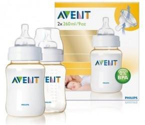 Set 2 biberoane PES 260 ml Avent SCF663/27 - Pret | Preturi Set 2 biberoane PES 260 ml Avent SCF663/27